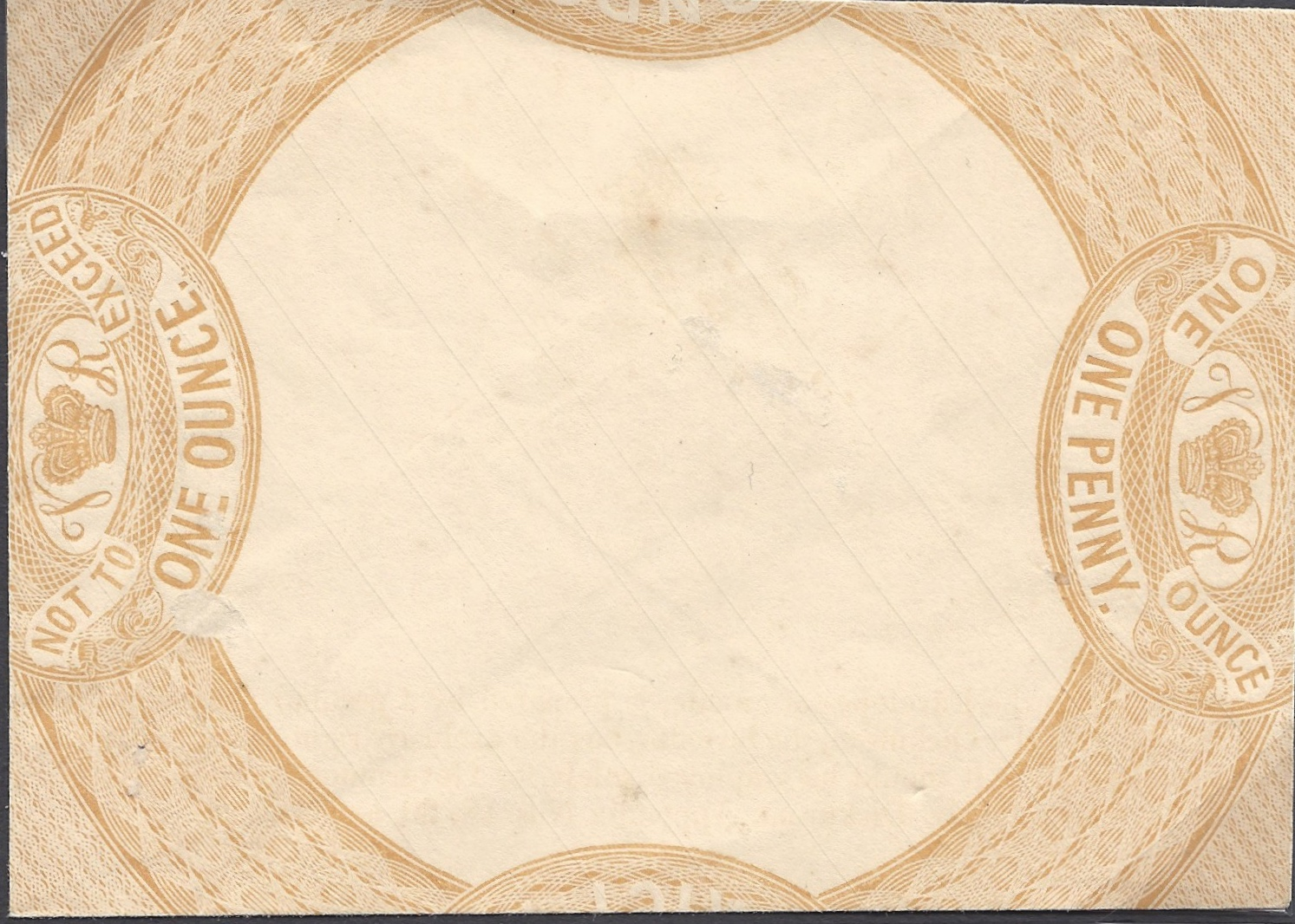 martin townsend 1837 dickinson s 1d envelope essay in yellow buff a fine example but small faults